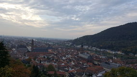 Evening view of Heidelberg Old Town, Germany. Heidelberg and neckar river panorama Stock Images
