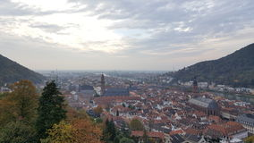Evening view of Heidelberg Old Town, Germany. Heidelberg and neckar river panorama Royalty Free Stock Image