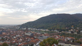 Evening view of Heidelberg Old Town, Germany. Heidelberg and neckar river panorama Stock Photography