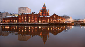 Evening view of Helsinki and river Stock Photos