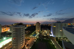 Evening view from a high floor Stock Photography