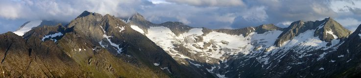 Evening view on Hohe Tauern. Austria Stock Photography