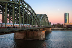 Evening view of Hohenzollern Bridge Stock Images