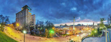 Evening view of the Independence Square Royalty Free Stock Photography