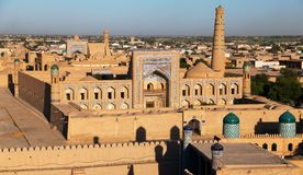 Evening view of Khiva Royalty Free Stock Photos
