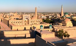 Evening view of Khiva - Uzbekistan Stock Image