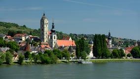 Krems an der Donau, Wachau, Austria. Evening view on Krems an der Donau city in Wachau - Austria Stock Photo
