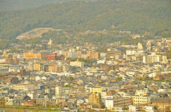 Evening view of Kyoto city Stock Image