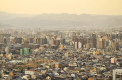 Evening view of Kyoto city Royalty Free Stock Images