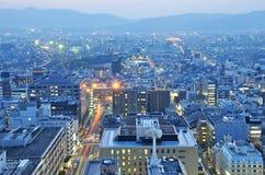 Evening view of Kyoto city Stock Photos