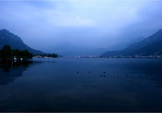 Evening view of the lake  Royalty Free Stock Photography