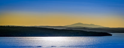 Evening view of lake and mountains Stock Photography