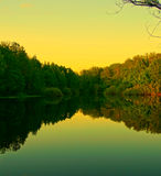 Evening view of the lake. Nature spring nature silence calmness recreation nobody Royalty Free Stock Photo