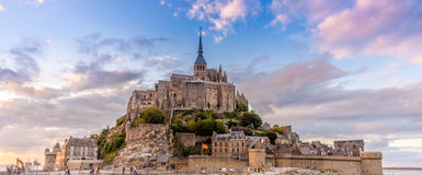 Evening view at Mont Saint-Michele Stock Photos
