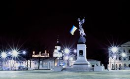 Evening view of the monument. To the external illumination Stock Images