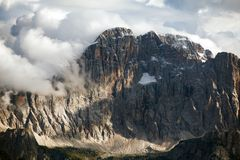 Evening view of Mount Civetta from Col di Lana Royalty Free Stock Photography