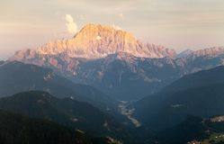 Evening view of Mount Civetta in Italien Dolomites Stock Images