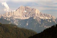 Evening view of Mount Civetta in Italien Dolomites Stock Photo