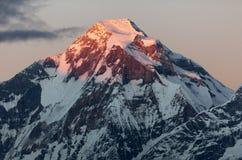 Evening view of mount Dhaulagiri. Nepal royalty free stock image