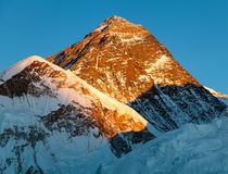 Evening view of Mount Everest from Kala Patthar Royalty Free Stock Images