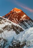 Evening view of Mount Everest from Kala Patthar Royalty Free Stock Photography