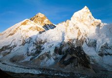 Evening view of Mount Everest from Kala Patthar Royalty Free Stock Photos