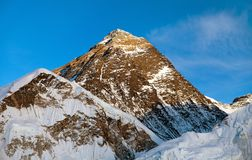 Evening view of Mount Everest from Kala Patthar Royalty Free Stock Photo