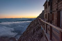 Evening view from a mountain resort. Stock Images