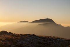 Evening View of Mynydd Moel Stock Images