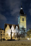 Evening view of New Town Hall in Prague Royalty Free Stock Photos