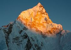 Evening view of nuptse Stock Photography