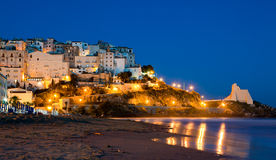 Evening View Of The Italian City Of Sperlonga Royalty Free Stock Images