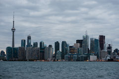 Evening view of Old Toronto skyscrapers from Algonquin Island Stock Image