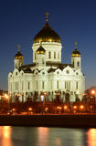 Evening view of Orthodox church of Christ the Stock Image