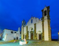 Our Lady of the Lagoon church, in Monsaraz. Evening view of Our Lady of the Lagoon church, in Monsaraz, Portugal Stock Image
