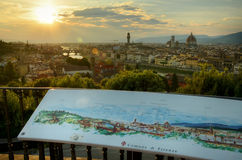 Evening view over Florence, Italy Stock Image