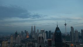 Evening view over Kuala Lumpur, Malaysia stock photo