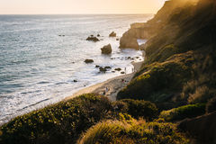 Evening view of the Pacific Ocean at El Matador State Beach, Mal. Ibu, California Stock Images
