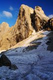 Evening view in pale di san martino Stock Photo