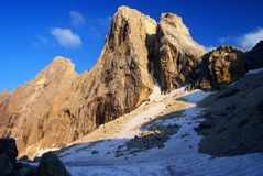 Evening view in pale di san martino Royalty Free Stock Images