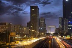 Evening view on Paris skyline Stock Photo