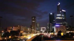Evening view on Paris skyline stock footage