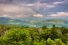 Evening view of Piedmont from Skyline Drive in Shenandoah Nation Royalty Free Stock Photos