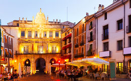 Evening view of Plaza Mayor in  Cuenca Stock Image