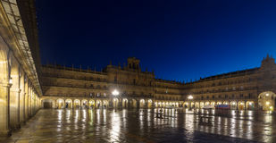 Evening view of Plaza Mayor Royalty Free Stock Photography