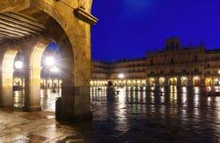 Evening view of Plaza Mayor. Salamanca,Spain Royalty Free Stock Photos