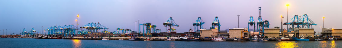 Evening view of  Port of Algeciras Royalty Free Stock Image