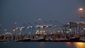 Evening view of  Port of Algeciras - stock video footage