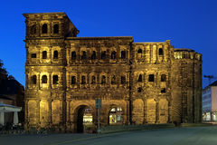 Evening view of the Porta Nigra in Trier, Germany Royalty Free Stock Photography