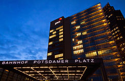 Evening view of Potsdamer Platz - financial district of Berlin, Royalty Free Stock Photography